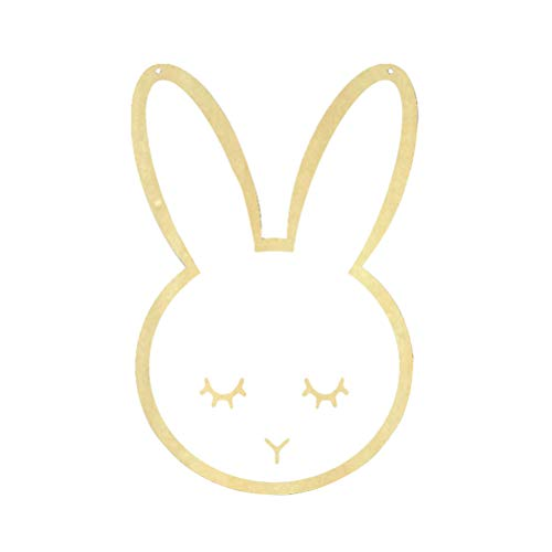 Bunny Mirror - Vosarea Acrylic Wall Mirror Wooden Frame Hanging Mirror in The Shape of Bunny