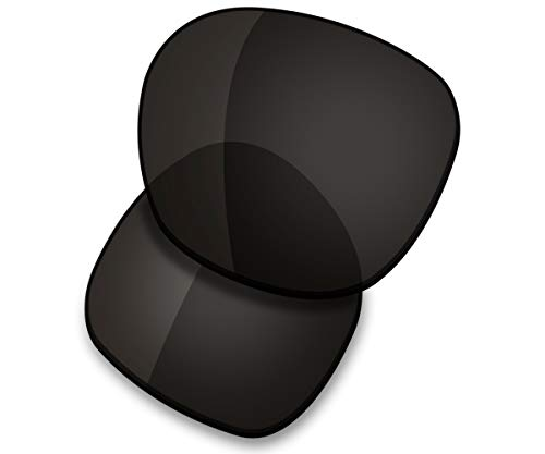 (Saucer Premium Replacement Lenses for Oakley Garage Rock Sunglasses High Defense - Carbon Black Polarized )