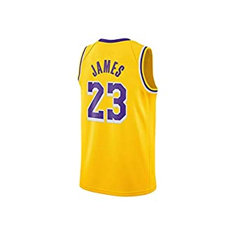 best service ca486 02a0d WELETION Los Angeles Lakers Jersey 23# Lebron James Male Basketball Clothing