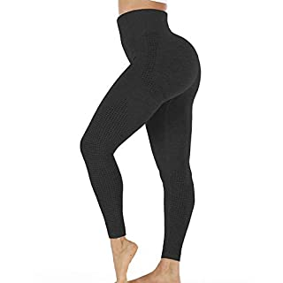 ZITAIMEI High Waist Seamless Workout Leggings for Women Yoga Pants Butt Lifting Tummy Control Compression Tights