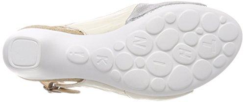 Think Traudi_282577, Sandalias de Talón Abierto Para Mujer Blanco (Ivory/kombi 93)