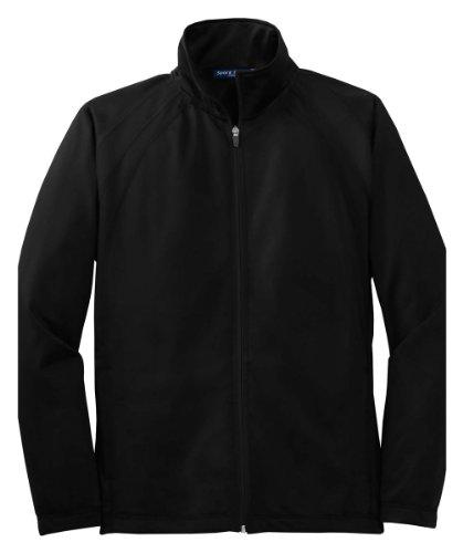 Sport-Tek Mens Tricot Track Jacket JST90 -Black/Black XL