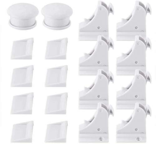 Magnetic Baby Safety Locks of Kikoocare for Cabinets & Drawers,8 Lock + 2 Key for Baby Proofing Cabinets