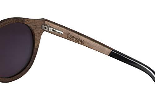 Da Modello Polarizzate Certificate Occhiale Legno Sole Lenti 100 Vero Brave Laminato Panama In wgp8q