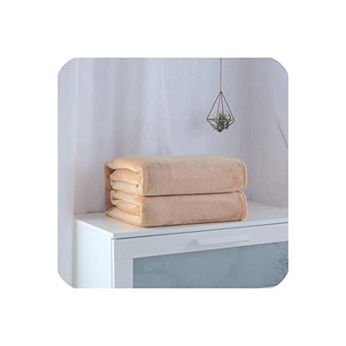 - Mint Green Solid Color Flannel Coral Fleece Blanket Polyester Color 5 Size Mink Throw Sofa Cover Sheet Soft Blankets On The Bed,11,180x200cm