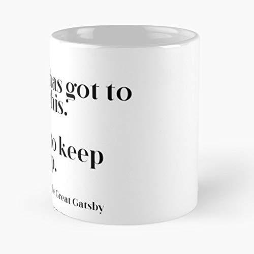 Life Self Help The Great Gatsby F Scott Fitzgerald - Coffee Mugs,handmade Funny 11oz Mug Best Holidays Gifts For Men Women Friends. -