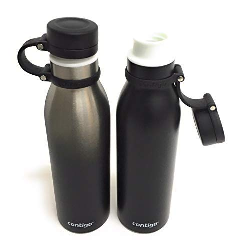 Contigo Thermalock Stainless Steel 20 oz Water Bottle - 2-Pack (Matte black and Ombre)