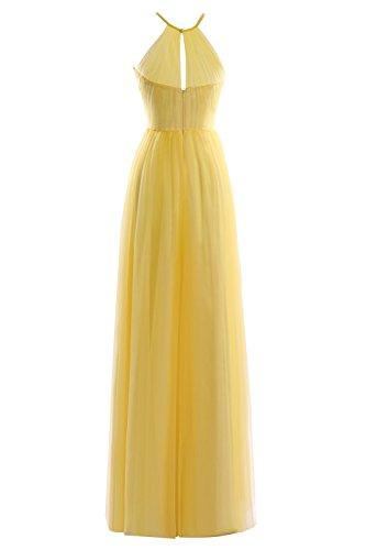 Formal Women's Prom Bridal Length Tulle Floor Sky Blue Halter Dresses Bess q7xf56EUw5