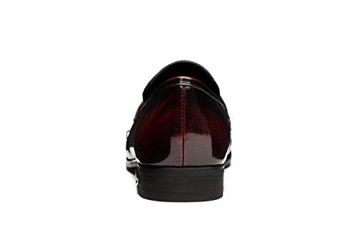 Opp Fashion Classic Vera Da Uomo Scarpe Wine Pelle rrTvnSdx