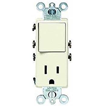 switch and outlet combination wall light switches com leviton 5625 asp 15 amp 120 volt combination decora switch receptacle new rocker style premium spec grade almond