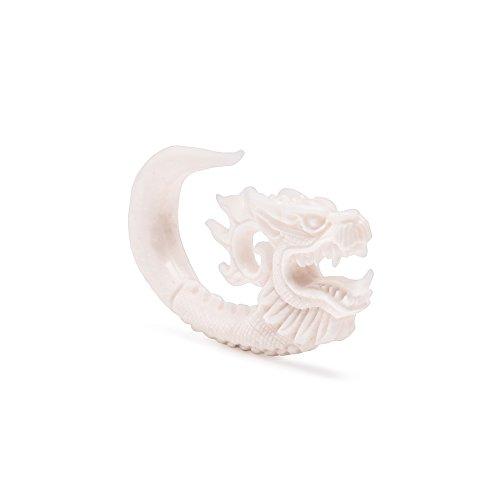 Carved Dragon Bone Hanger – 8mm – Price Per 1 ()