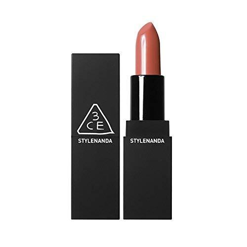 (3CE Matte Lip Color #908 Warm&Sweet Vintage Brown Coral Color Long Lasting Lipstick)