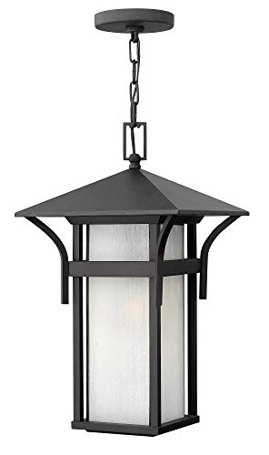 - Hinkley 2572SK Transitional One Light Hanging Lantern from Harbor collection in Blackfinish,
