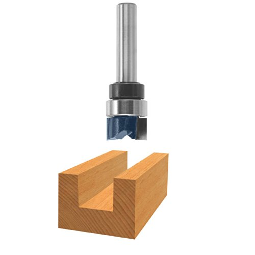 Bosch 85674M 1/2 In. x 1/4 In. Carbide Tipped 2-Flute Top Bearing Dado Clean Out Bit