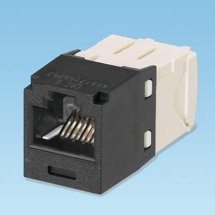 Amazon Com Panduit Mini Com Tx6 Plus Giga Channel Cat6 Jack Black Box Of 50 Cj688tgbl Computers Accessories