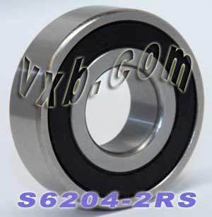 Amazon.com: s6204 – 2RS Rodamientos de bolas de acero ...