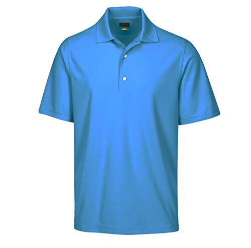 Greg Norman Men's Protek Micro Pique Polo, Atlantic Blue, X-Large