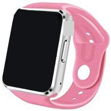 Timethinker A1 Reloj Inteligente Bluetooth con cámara SIM Smartwatch Deporte podómetro para Android Smartphone Rusia PK para DZ09 (Rosado, con Caja): Amazon.es: Electrónica
