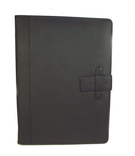 Executive Schwarzes Leder A4 mappe Organiser mit Personalisierung Option (laschenverschluss)IT124 - Schwarz, No Personalisation (Blank) B01NALK1BT    | Shop