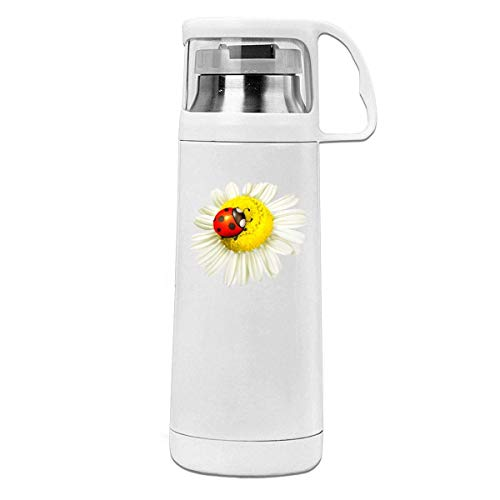 - YXQMY Chamomile Ladybug Cover Cup Thermos Cup Vacuum Insulated 11.8oz Stainless Steel Water Bottle