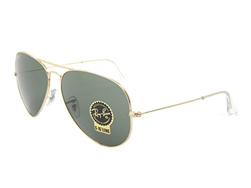 Ray Ban Aviator RB3026 L2846 Gold/ Green Classic 62mm - Aviator 62mm Ban Ray