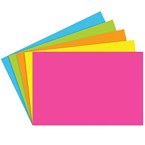 Top Notch Teacher Products TOP361BN Index Cards 4X6 Blank Brite Assorted, Grade Kindergarten to 1, 4