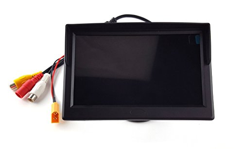 Usmile 5 Inch 800x480 400lux High Bright HD TFT LCD Monitor Support NSTC PAL for Car Rear View Backup Camera,CCTV Camera DVD FPV Racing Quad No delay no blue screen or black screen with sunshade by usmile