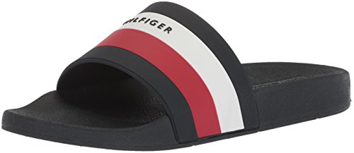 Tommy Hilfiger Hombres Earthy Slide Sandal Dark Blue Sewing