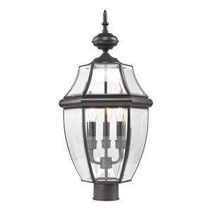Cornerstone Lighting 8603EP/75 Ashford 3 Light Exterior Post Lantern, Oil Rubbed Bronze