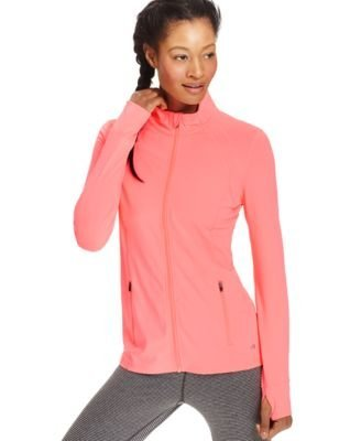 Ideology Fitted Active Zip Jacket Neon Punch Xx-large