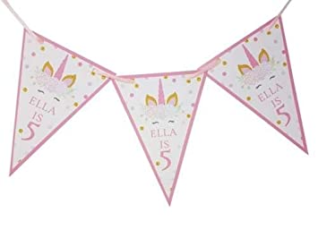 Zebra Print /& Purple Personalized Birthday Party Bunting Flag Banner