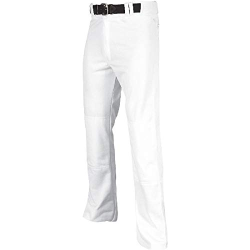 Champro Youth MVP Open Bottom Relaxed Fit Baseball Pant, White, Large
