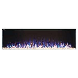 WOLF STEEL Napoleon Trivista 3-Sided Electric Fireplace (NEFB60-3SV), 60-Inch