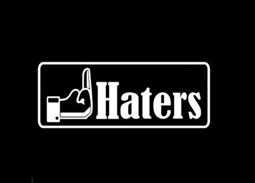 CCI017 - Fuk Haters Die Cut Vinyl Window Decal/sticker for Car , Truck, Laptop | 6 X 2.5 - Blocker Hater