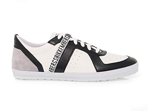 Bikkembergs Men's Bke107953 White Leather Sneakers (Bikkembergs Shoes Men)