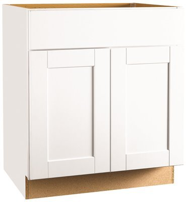 CONTINENTAL CABINETS KITCHEN CABINETS 2487085 Rsi Home Products Andover Shaker Sink Base Cabinet, White, 30'' by CONTINENTAL CABINETS