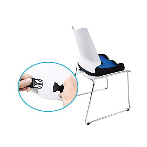 ZHANGZHIYUA Memory Seat Cushion/Back Cushion Combo, Gel Infused & Ventilated, Orthopedic Design. Perfect for Office Chair, Relieves Back, Coccyx, Sciatica,1 by ZHANGZHIYUA (Image #2)