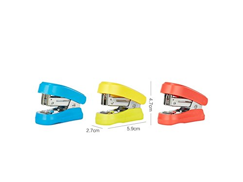 Zhisan Unique Colour Multifunction Mini Stapler and Pencil Sharpener for Child Gift Cartoon Animal Duck Book Sewer(Yellow)