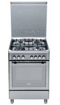 Ariston Cucina a gas Inox 60x60 4 fuochi Forno elettrico ...