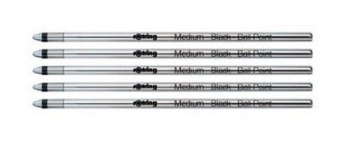 Rotring - Tikky 3 in 1 Multipen Refill - 5 Black Ballpoint Refills For Multipens