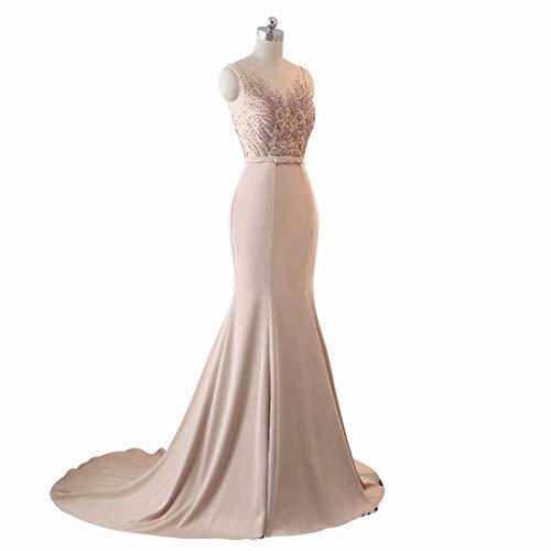 Spitze Pailletten Frauen Lange Brautkleid Abendkleid 3 King's Meerjungfrau Love Stickerei Formale 8q51UYw