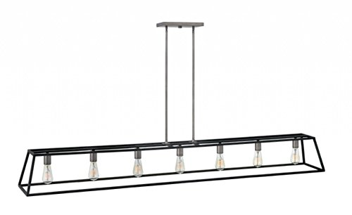 3355DZ Restoration Seven Light Stem Hung Linear from Fulton collection in Bronze/Darkfinish,
