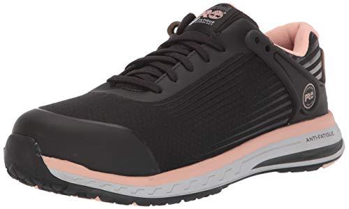 Timberland PRO Women's Drivetrain Composite Toe EH Industrial Boot, Black/Pink, 6 M US