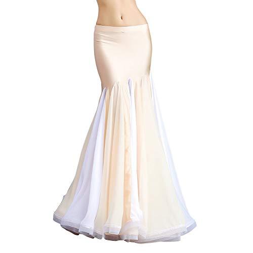 ROYAL SMEELA Belly Dance Costume for Women Chiffon Belly Dancing Skirts Maxi Fishtail Skirt Ruffle Mermaid Skirt Dress Outfit Belly Dance Mermaid Skirt