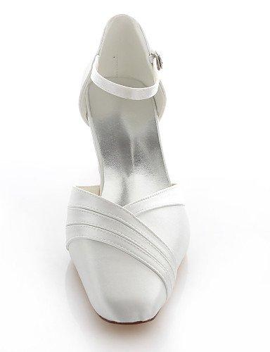 GGX/Damen-Schuhe Stretch Satin Chunky Heel Heels/Square Toe Heels Hochzeit/Party & Abend/DRESSBLUE/elfenbeinfarben/silber 2in-2 3/4in-pink