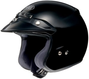 M2005 Snell Helmet - SHOEI RJ PLATINUM R SERIES CRUISER BLACK SIZE:XSM Motorcycle Open-Face-Helmet