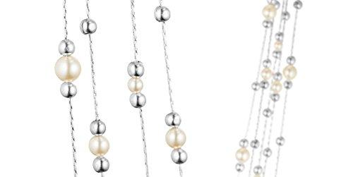 Une Ligne Sautoir de perles Classique, blanc