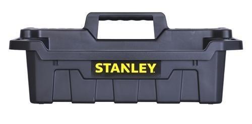 Stanley STST41001 19.34'' X 13'' X 7.6'' Black Portable Storage Tote Tray