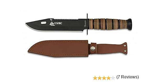 Cuchillo USMC Hoja 18 cm para Caza, Pesca, Camping, Outdoor ...