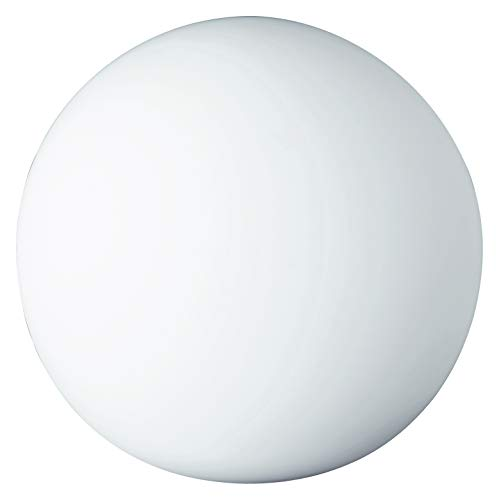 Reality R5220-07 PingPong - Lámpara de Sobremesa con Bombilla E27 no Incluida, 25 W, 230 V, A++, E, IP20, Vidrio, color Blanco, 18,5 x 20 x 20 cm, Diámetro 20 cm